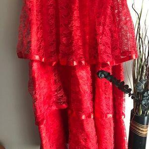 "Dresses - Lydia ""Beetlejuice"" Red Halloween Wedding Dress"